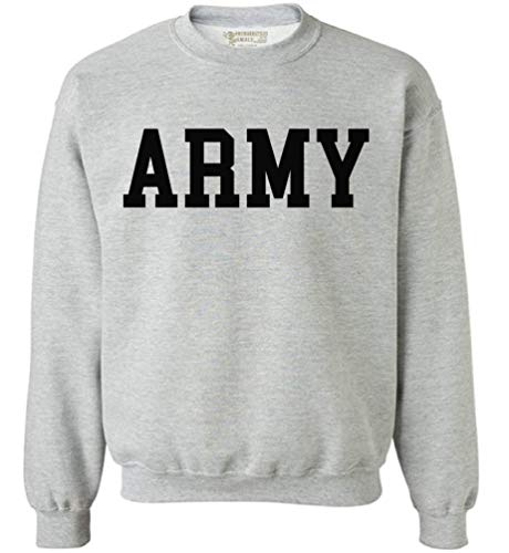 Army Crewneck Sweatshirt - Awkwardstyles Army Sweater Black Military Physical Training Sweatshirt M Gray