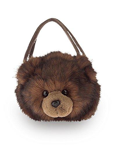 """Bearington Grizzy Carrysome Stuffed Animal Teddy Bear Purse 6"""" x 8"""""""