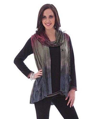 Parsley & Sage Womens Plus Size Designer Tunic Length Vest