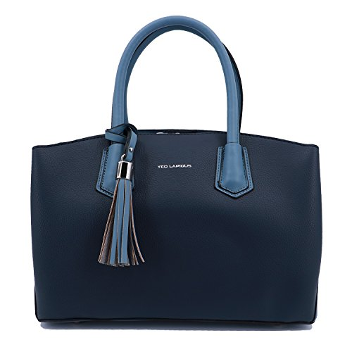 Top-Handle Handbag Ted Lapidus Tressy 9812 synthetic leather look (Navy/Bleu)