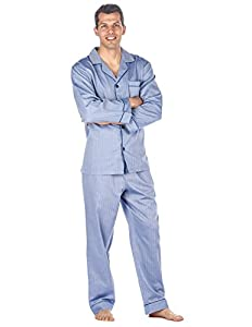 Noble Mount Men's Cotton Woven Pajama Sleepwear Set