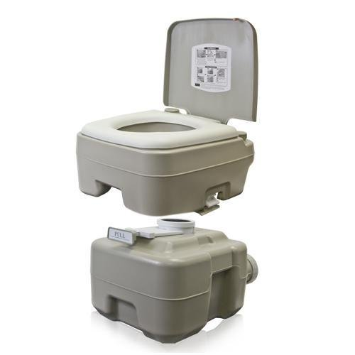 Best Choice Products Portable Toilet 5 Gallon Dual Spray Jets Travel Outdoor Camping Hiking Toilet