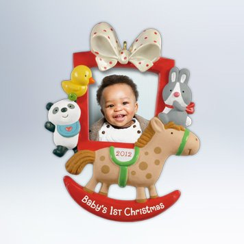 Hallmark 2012 Keepsake Ornaments QXG4604 Baby's First Christmas Photo Frame (Babys First Christmas Hallmark Ornament)
