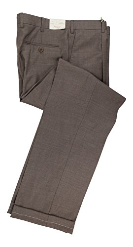 BRIONI Cannes Brown Wool Single Pleat Dress Pants Size 48/32 R