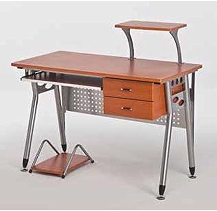 Scrivania Porta Pc Scrivanie Ufficio Tavolo Tavoli Computer Uffici Ciliegio Amazon It Casa E Cucina
