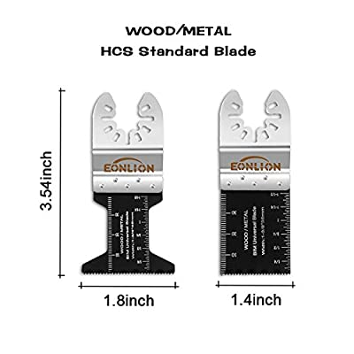 EONLION Metal/Wood Oscillating Multitool Quick Release Saw Blades Fit Fein Multimaster Porter Cable Black&Decker Bosch Dremel Craftsman Ridgid Ryobi Milwaukee Dewalt Rockwell Chicago