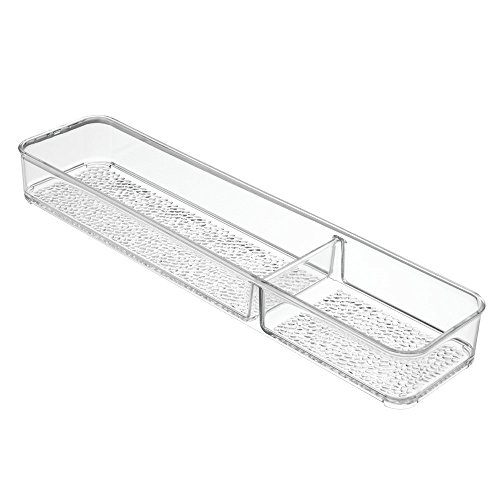 InterDesign Vanity Storage, Divided Tray 1, Clear
