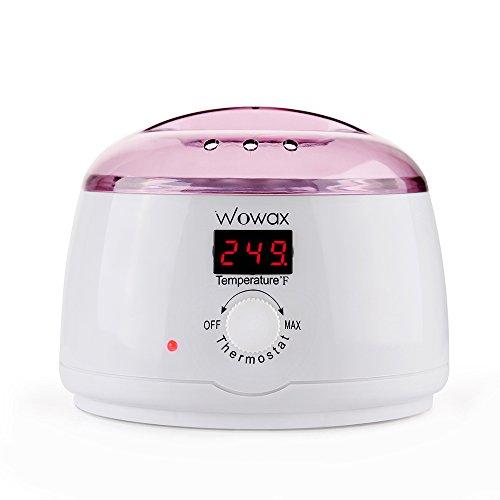 WOWAX Wax Warmer Hair Removal Wax Heater With 14oz Wax Melting Pot Eyebrow Wax Warmer Purple