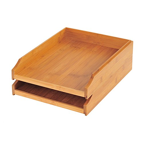 Sandusky Buddy BB-009 Bamboo 2-Tier Desk Tray (Pack of (Sandusky Two Tier)