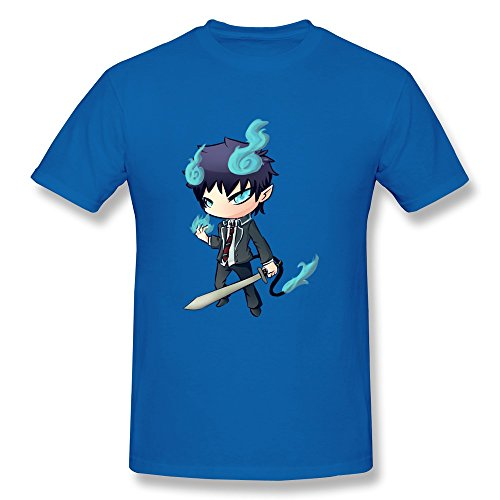 Ptshirt.com-19282-SALA Men\'s Rin Okumura From Blue Exorcist T-Shirts RoyalBlue-B016OIE4JE-T Shirt Design