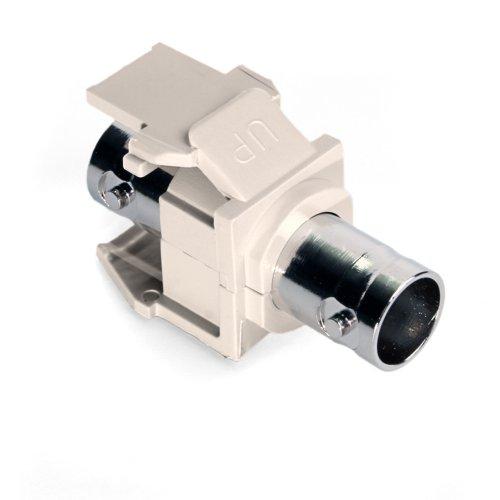 Leviton 41084-BTF BNC QuickPort Adapter, Nickel-Plated, Light Almond