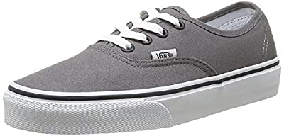 Vans Unisex Authentic Core Skate Shoes Pewter/Black 9 D(M) US