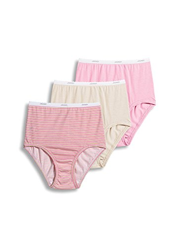 (Jockey Women's Plus Size Classics Full Cut Brief 3-Pack, Siena Sunset/Simple Stripe/Pink/Egyptian Scroll 8 (2XL) )