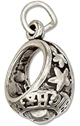 Sterling Silver High School Class Ring Charm