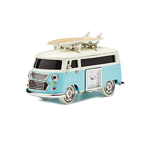 (Red Co. Miniature Vintage | Camper Van | Novelty Desk/Table/Desktop Collectors Clock - 4