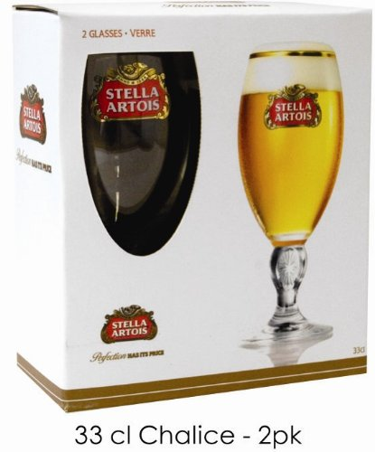 Stella Artois Pilsner Beer Chalis Set of 2