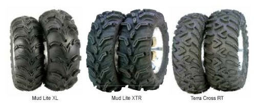 ITP Mud Lite XL, SS212, Tire/Wheel Kit - 26x12x12 - Platinum 46531L
