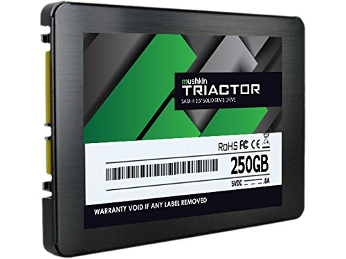 Mushkin TRIACTOR 250GB Internal Solid State Drive (SSD) - 2.5 Inch - SATA III - 6Gb/s - TLC - 7mm - MKNSSDTR250GB