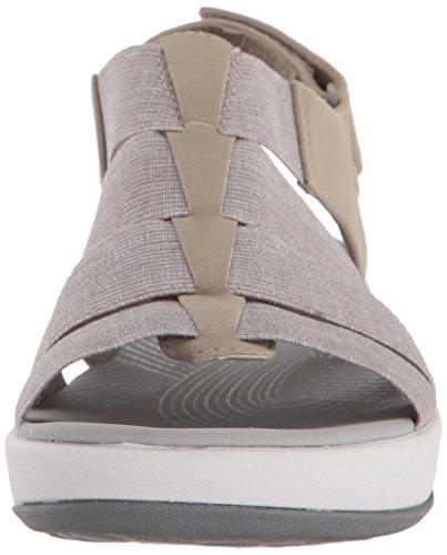 Medium Clarks Shaylie white Arla Us 7 Platform Women's Heathered Sand Elastic 7z47Sw