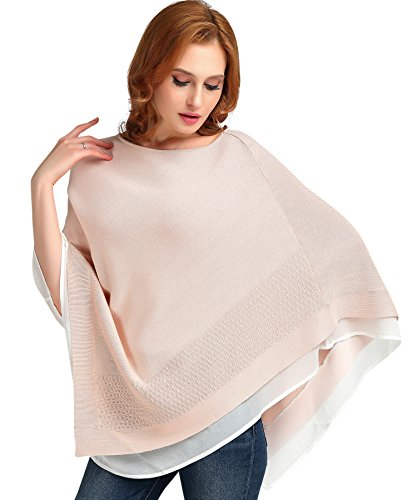 Poncho Top For Women Cotton Pink Spring Autumn Fashion Sweater Pink