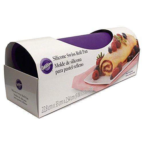 - Wilton Silicone Swiss Roll Yule Log Fudge Candy Baking Mat Pan 9