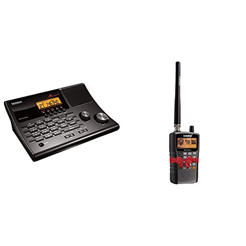 Uniden BC365CRS 500 Channel Scanner and Alarm Clock with Snooze, Sleep, and FM Radio with Weather Alert, Search Bands & Bearcat BC125AT Handheld Scanner. 500 Alpha-Tagged Channels