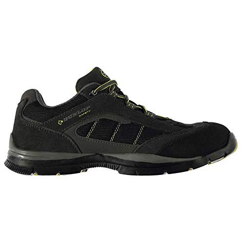 Dunlop Men's Safety Iowa Steel Toe Work Shoes Charcoal/Yellow 10