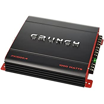 crunch PX1000.4 Power Amplifier (Class Ab, 4 Channels, 1,000 Watts)
