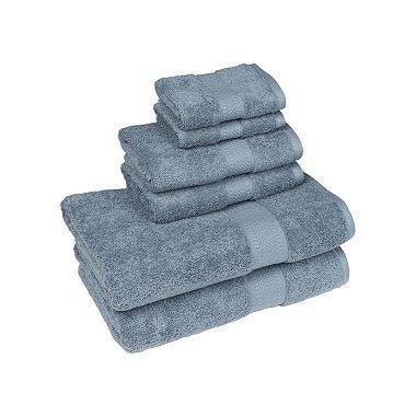 Organic 6-Piece Bath Towel Set (Citadel Blue)