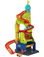Fisher-Price HBD77 - Little People Sit & Stand Skyscraper Racetrack - 2-i-1 lekset med fordon, 1-5 år