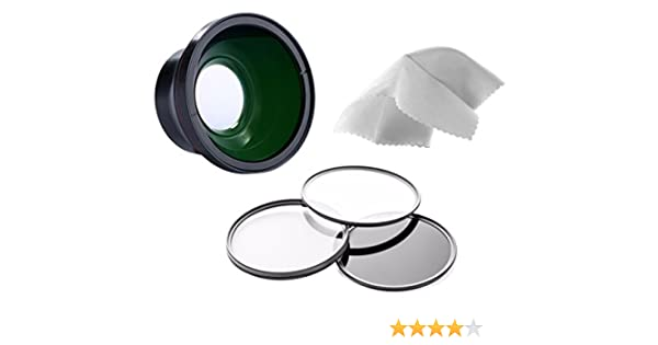 Includes Necessary Lens Adapter Nwv Direct Micro Fiber Cleaning Cloth Nikon COOLPIX A 0.43X High Definition Super Wide Angle Lens w//Macro + 52mm 3 Piece Filter Kit