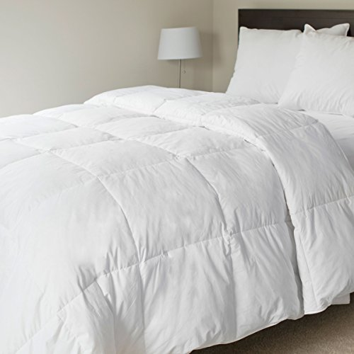 Bedford Home 100-Percent Cotton Feather Down Bedding Comforter, King