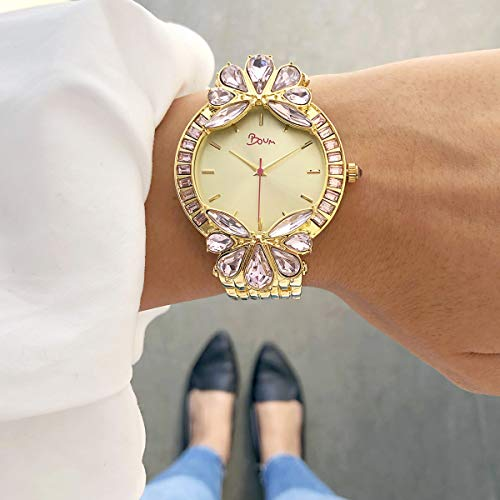 Boum Precieux Statement Crystal Dial Quartz Watch