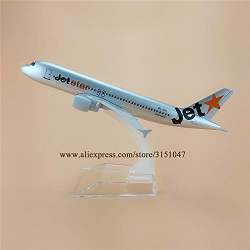 ZAMTAC Alloy Metal Jet Air Jetstar A320 Airlines Airplane Model Jetstar Airbus 320 Airways Plane Model Aircraft Kids Gifts - Jet Aircraft Airways