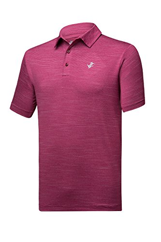 Jolt Gear Mens Dry Fit Golf Polo Shirt, Athletic Short-Sleeve Polo Golf Shirts, - Magenta Shirt Color