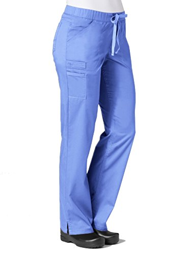 Maevn Women's PrimaFlex Inner Beauty Straight Leg Pant(Ceil Blue, Large) ()