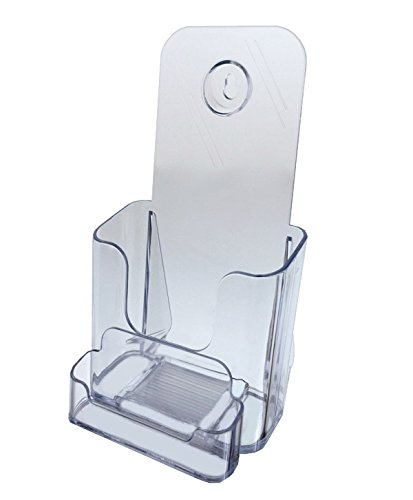 - Deflecto 78601 Docuholder Clear Rigid Countertop Leaflet Holder with Business Card Holder