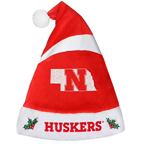 Nebraska Cornhuskers Santa - Nebraska Cornhuskers Basic Santa Hat - 2016