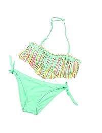 LUQUAN 2Pc/Set Baby Girls Kids Swimsuit Swimwear Tassel Bikini Brief