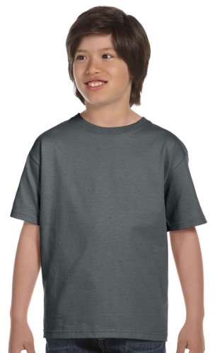 Fruit Of The Loom Lofteez Hd Youth Tee (Charcoal Grey) (S)