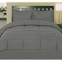Sweet Home Collection White Goose Down Alternative Comforter, Grey, Twin