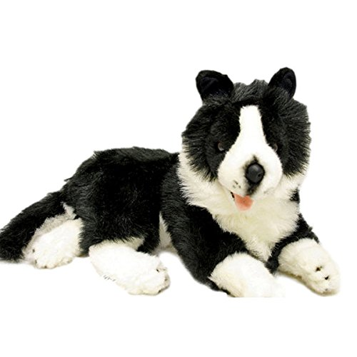 - Bocchetta Plush Toys Border Collie Dog Soft Plush Toy Lying Starsky 14