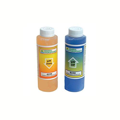 General Hydroponics pH Up & pH Down - 8 Oz Each