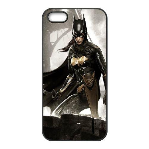 Batgirl coque iPhone 5 5S cellulaire cas coque de téléphone cas téléphone cellulaire noir couvercle EOKXLLNCD22008