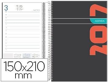 Agenda de espiral liderpapel syros 15x21 cm 2017 dia pagina ...