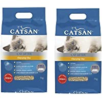 Catsan Clumping Clay Cat Litter 2 x 7kg Bags