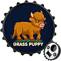 Hierba Puppy Scottish Highland - Abrebotellas con imán trasero para nevera