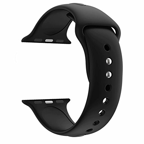 YC YANCH Greatou for Apple Watch Band 38mm 42mm, Soft Silicone Sport Strap Replacement Bracelet Wristband for Apple Watch Series 3, Series 2, Series 1, Nike+, Sport,Edition,S/M M/L Size