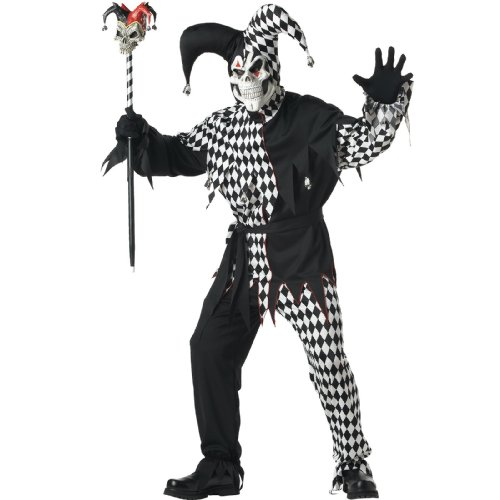 Evil Jester Costume - X-Large - Chest Size 44-46