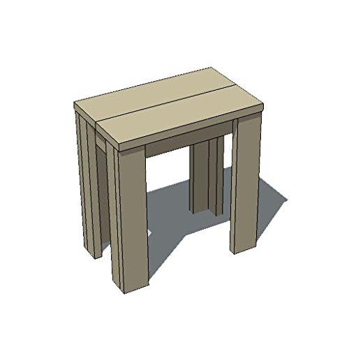 OLD ASHIBA(足場板古材)Aタイプ テーブル 幅520×奥行400×高さ710mm 屋内用灰緑(はいりょく) B07F9NBP2R 奥行400mm×幅520mm,灰緑(はいりょく)